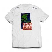 Camisa Jesus Cristo é a única esperança - Branca - Retrô