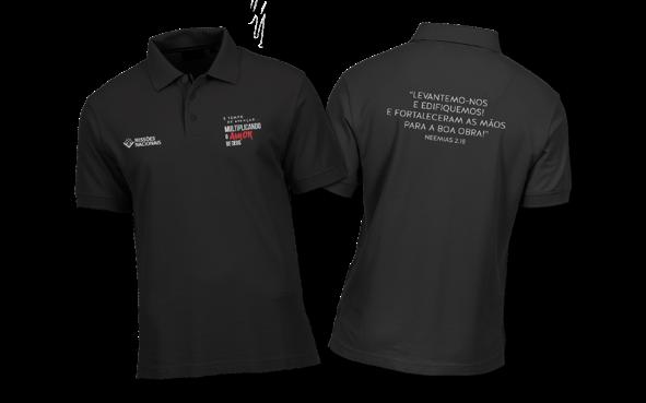 Camisa Polo Multiplicando o Amor de Deus - Preta