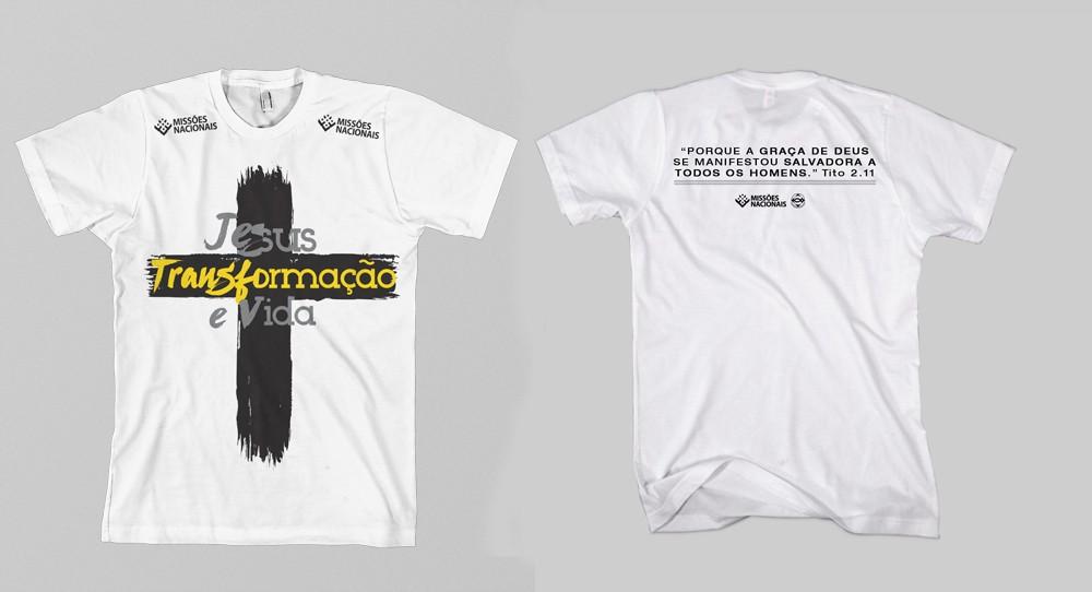 Camisa Transformação e Vida - Cruz Branca