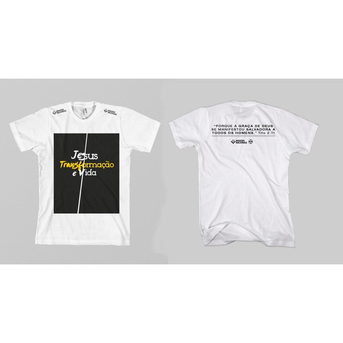 Camisa Transformação e Vida - Quadrado Branca