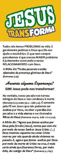 Jesus Transforma, Folheto - 100 (cem) unidades