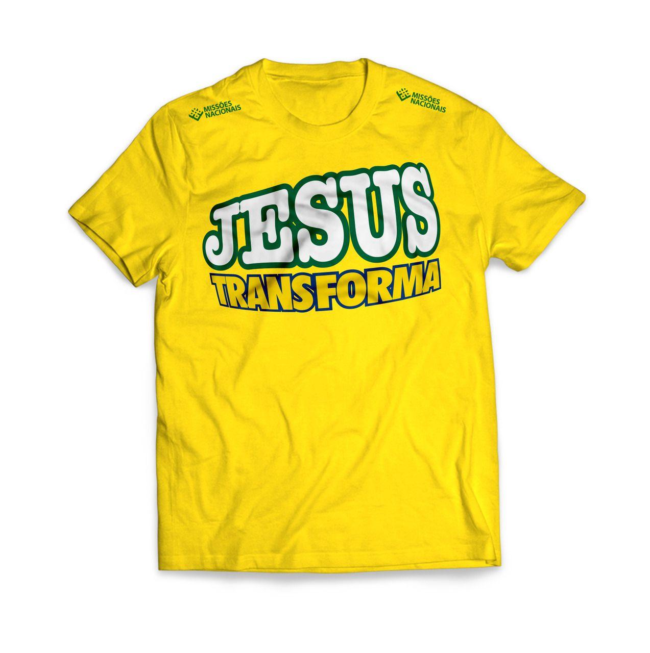 Camisa Jesus Transforma - Amarela