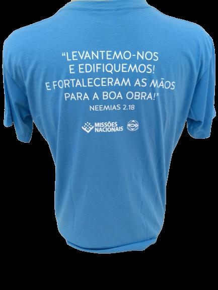 Camisa Multiplicando o amor de Deus  - Azul