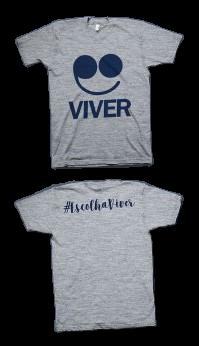 Camisa Viver -  Cinza mescla