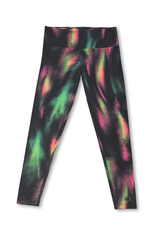 Legging gym com bolsos traseiros estampa arco íris