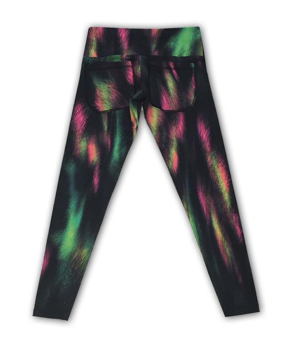 Legging em light com 2 bolsos traseiros estampa arco íris  - Vivian Bógus