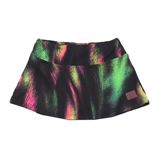 Saia shorts infantil estampada arco iris