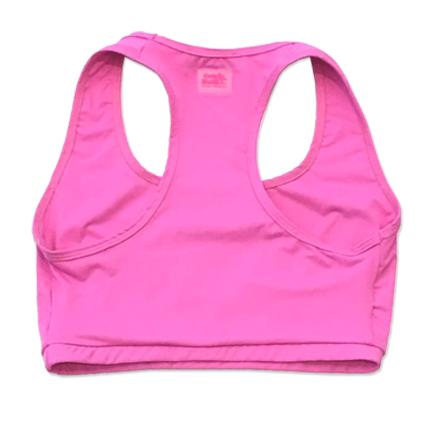 Top de compressão em sportiva decote u costas nadador rosa claro