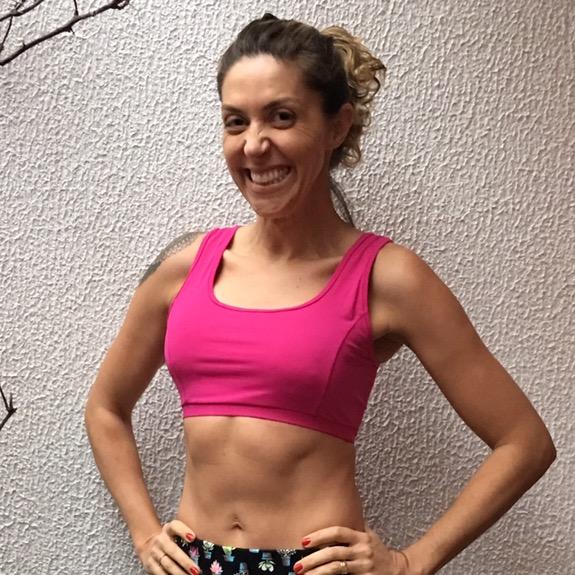 TOP FITNESS DE COMPRESSÃO REGATA ROSA ESCURO