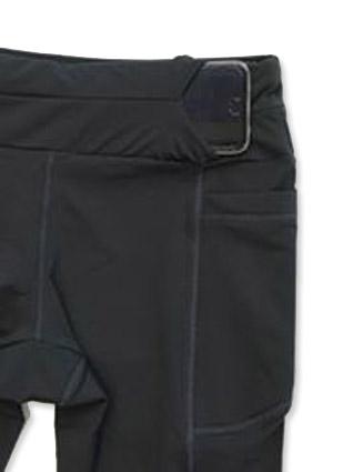 Legging de compressão mil bolsos em compress preto com bolsos black jeans