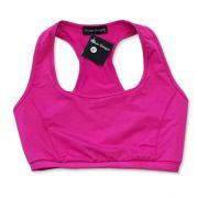 Top de compressão em sportiva decote u costas nadador rosa escuro