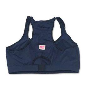 Top de compressão com bolso e bojo em sportiva ajuste alça e costas azul marinho