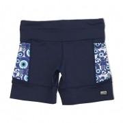 Shorts de compressão mil bolsos em compress marinho com bolsos olho grego