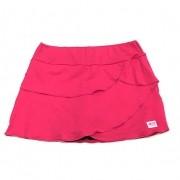 Saia fitness camadas rosa