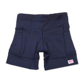 Shorts de compressão 1500 bolsos em compress azul marinho
