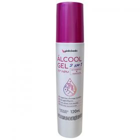 Álcool Gel 70º Hidratante Pink Cheeks 120ml