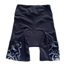 Bermuda de ciclismo em compress unissex preta bolso cinza aveludado