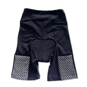 Bermuda de ciclismo em compress unissex preta bolso telinha cinza