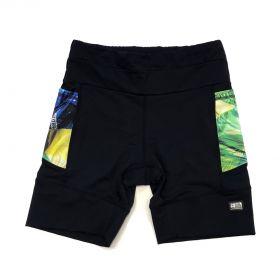 Bermuda de compressão masculina - unissex 1500 bolsos em compress preto bolsos Brasil