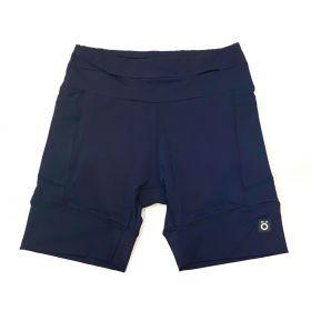 Bermuda de compressão masculina - unissex 1500 bolsos em sportiva azul marinho