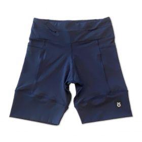Bermuda de compressão masculina - unissex 1500 bolsos quadrados em sportiva azul marinho