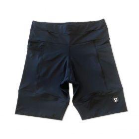 Bermuda de compressão masculina - unissex 1500 bolsos quadrados em sportiva preta