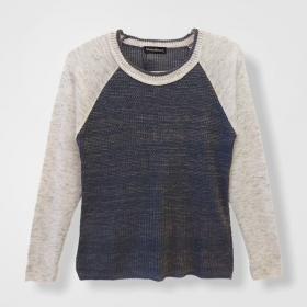 Blusa Carolina bicolor raglan tricot