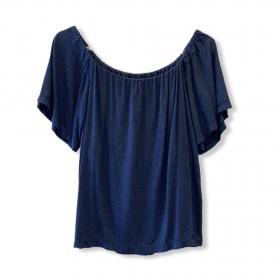 Blusa ciganinha viscolinho azul
