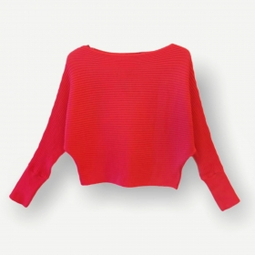 Blusa cropped canelada pink tricot