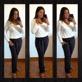 Blusa franzidinho punho off white