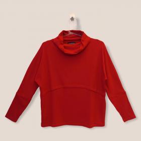 Blusa Ligia vermelha canelada