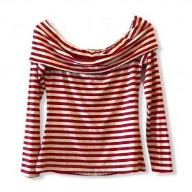 Blusa listrada vermelho e branco