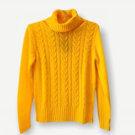 Blusa Rebeca amarela tricot