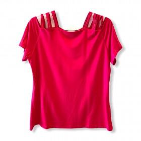 Blusa tirinhas ombro pink
