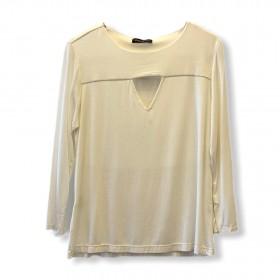 Blusa triângulo decote off white
