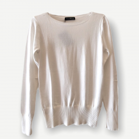 Blusa Luciana off white tricot