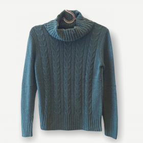 Blusa Rebeca verde tricot