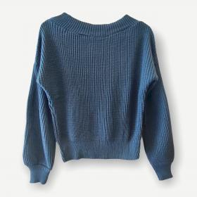 Blusa Juliana azul tricot