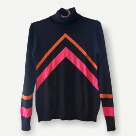 Blusa Nathalia preta e neon tricot