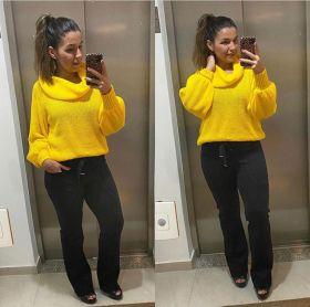 Blusa tricô amarela