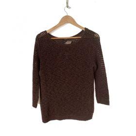 Blusa tricô marrom