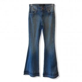 Calça Jeans Flare com barrado