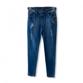 Calça Jeans Skinny blue jeans destroyed