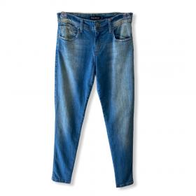 Calça Jeans Skinny blue jeans estonado