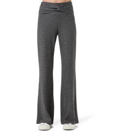 calça pantalona turbante mescla