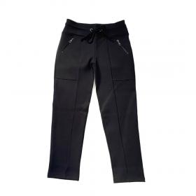 Calça sequinha em Radiosa Plus com cordão preta