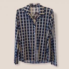 Camisa em malha fria estampada xadrez