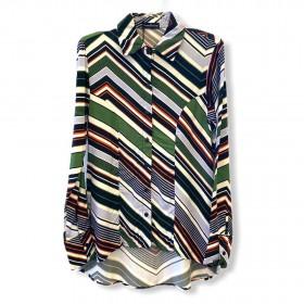 Camisa mullet estampada multicolorida