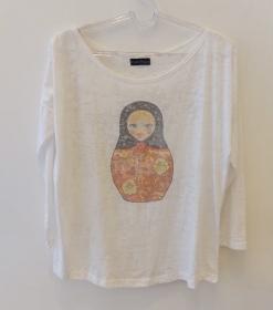 Camiseta devorê manga longa matrioska