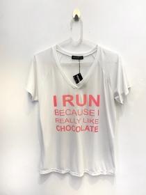 Camiseta poliamida estampa chocolate